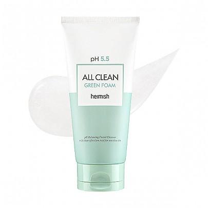 HEIMISH – All Clean Green Clay Foam – Łagodny żel nawilżający do mycia twarzy 150g