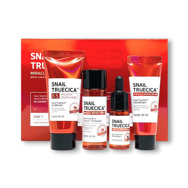 Some by Mi – Snail Trucica Miracle Repair Starter kit – Zestaw mini produktów regenerujący z ekstraktem ze śluzu ślimaka