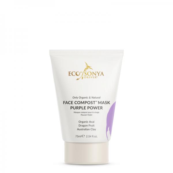 Eco by Sonya – Face Compost Purple Power Mask – Kremowa maska Detoks Wygładzenie Rozjaśnienie 75ml