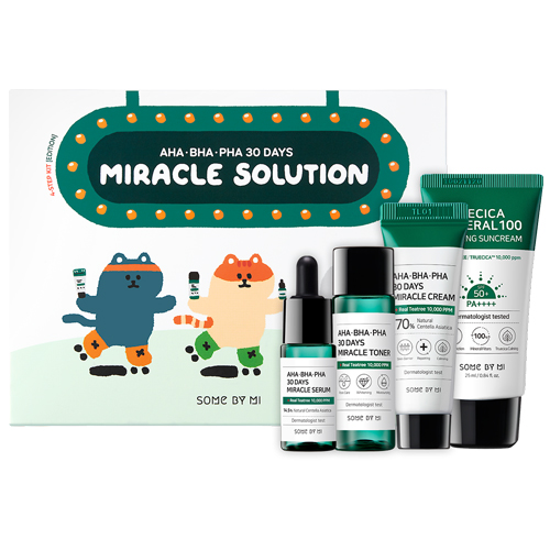 Some by Mi – SOMEBYMI AHA BHA PHA 30 days Miracle Solution – Step Kit – Zestaw mini produktów do cer problematycznych