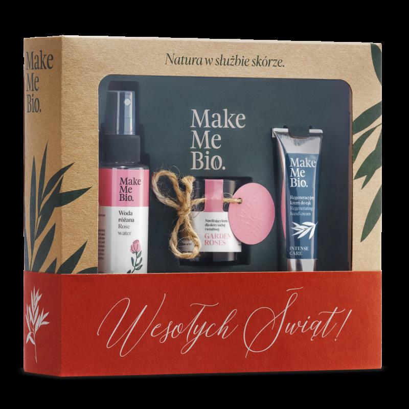 Make me Bio – Zestaw Świąteczny Garden Roses: Krem Garden Roses + Woda Różana + Krem do rąk