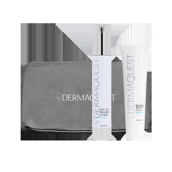 Dermaquest – ZESTAW Odnowa Skóry: Serum ujędrniające i nawilżające 30 ml + Terapeutyczny krem BB z cynkiem SPF30 30 ml + Kosmetyczka