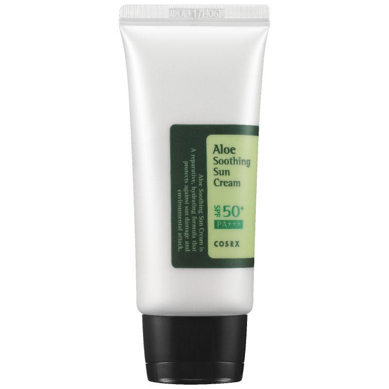 COSRX –  Aloe Soothing Sun Cream SPF50+/PA+++ – Nawilżający Krem z Filtrem Przeciwsłonecznym – 50ml