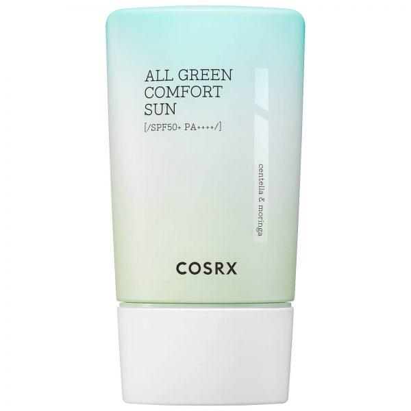 COSRX - Shield Fit All Green Comfort Sun SPF50+ PA++++, Krem Ochronny z Filtrem Fizycznym ,50ml