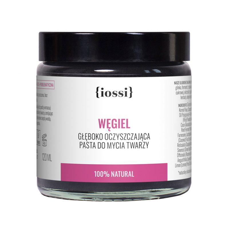IOSSI Pasta do mycia twarzy Węgiel, ważność 02/2021