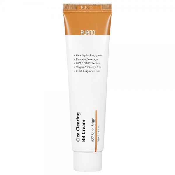 Purito - Cica Clearing BB Cream SPF 38 / PA +++ #27 Sand Beige - Krem BB z Wyciągiem z Wąkroty Azjatyckiej - 30ml