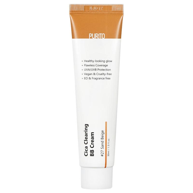 Purito – Cica Clearing BB Cream SPF 38 / PA +++ #27 Sand Beige – Krem BB z Wyciągiem z Wąkroty Azjatyckiej – 30ml