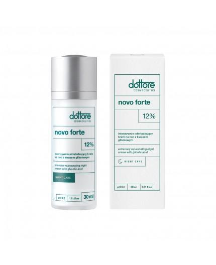 Dottore - NOVO FORTE - Intensywnie odmładzający krem na noc z 12% kwasem glikolowym, 30ml