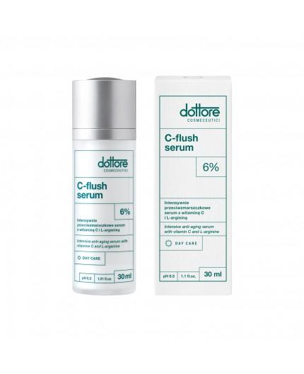 Dottore – C-FLUSH Serum – Intensywnie przeciwzmarszczkowe serum z 6% witaminą C i L-argininą, 30ml