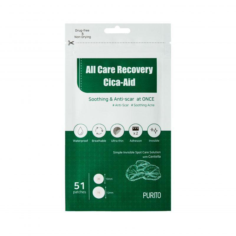 Purito – All-Care Recovery Cica-Aid – Plastry na wypryski,  51 plastrów