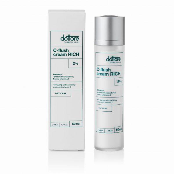 Dottore - C-flush Cream Rich 2 % Odżywczo-przeciwzmarszczkowy krem z witaminą C, 50 ml