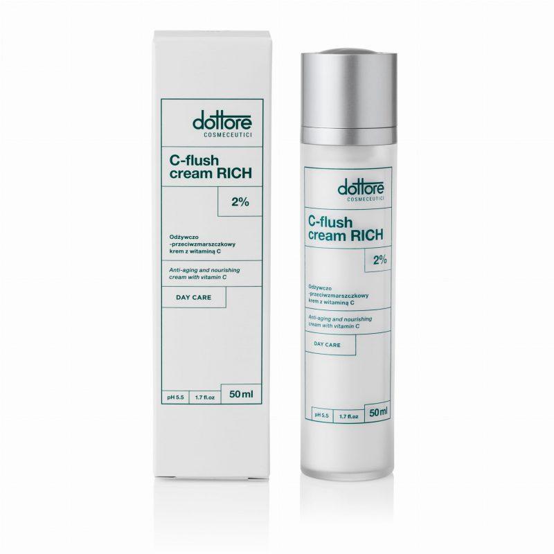 Dottore – C-flush Cream Rich 2 % Odżywczo-przeciwzmarszczkowy krem z witaminą C, 50 ml