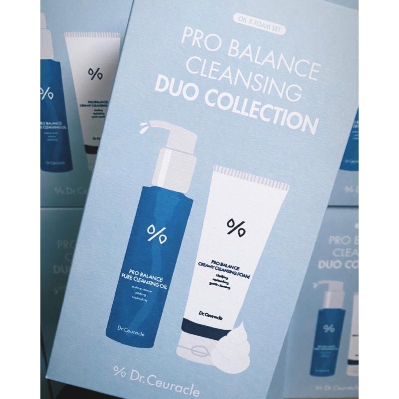 Dr.Ceuracle – Zestaw Pro Balance Cleansing Duo Collection – Zestaw do podwójnego oczyszczania twarzy, Olejek emulgujący 155ml  + Pianka z probiotykami 150ml