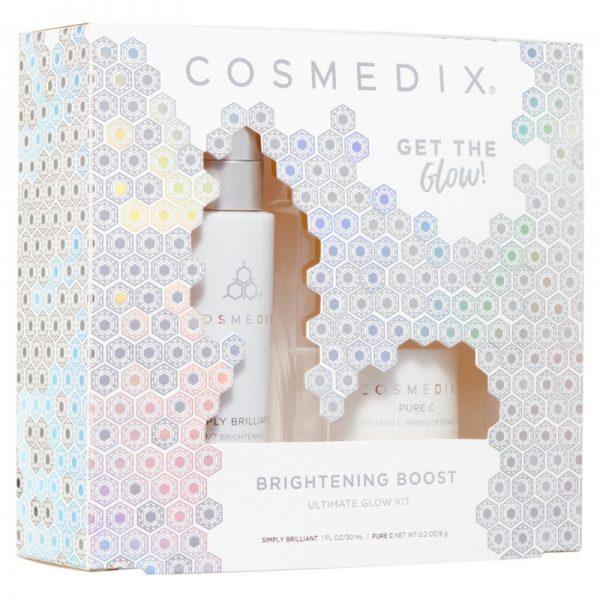 Cosmedix - ZESTAW: BRIGHTENING BOOST KIT - Na przebarwienia