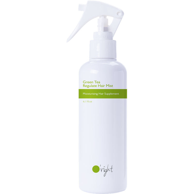O'right – Green Tea Regulate Hair Mist – Nawilżająca mgiełka z zielonej herbaty do włosów suchych i zniszczonych, 180 ml