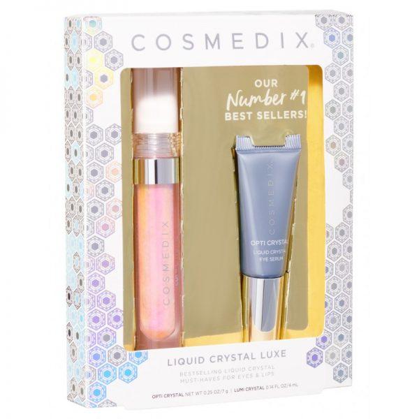 Cosmedix - LIQUID CRYSTAL LUXE KIT - Ekskluzywny zestaw do pielęgnacji oczu i ust
