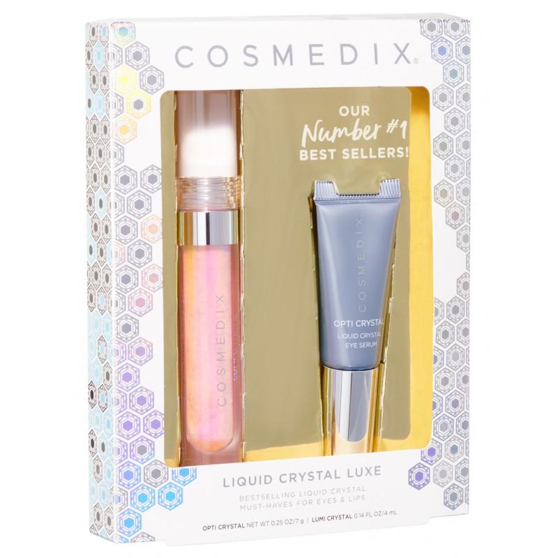 Cosmedix – LIQUID CRYSTAL LUXE KIT – Ekskluzywny zestaw do pielęgnacji oczu i ust