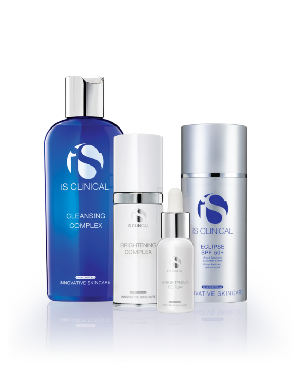 iS Clinical - ZESTAW NA PRZEBARWIENIA: Cleansing Complex + White Lightening Serum + White Lightening Complex + Eclipse SPF