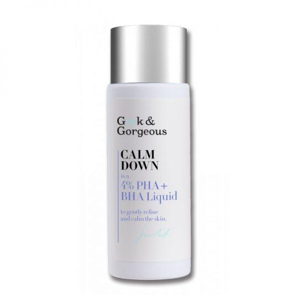 Geek & Gorgeous - Calm down, Tonik do twarzy 4% kwasów PHA + BHA, 30 ml