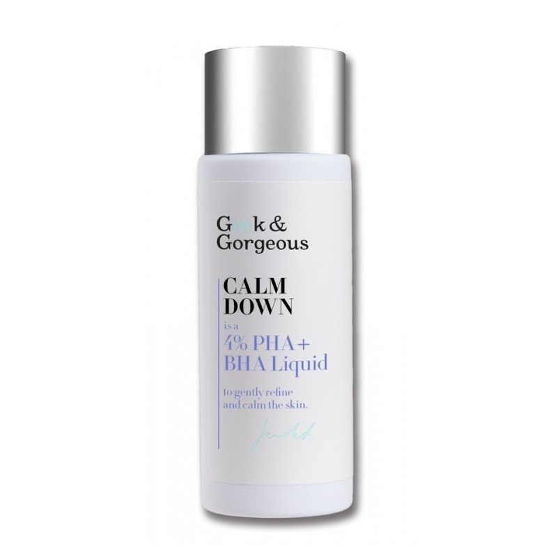 Geek and Gorgeous – Calm down, Tonik do twarzy 4% kwasów PHA + BHA, 30 ml