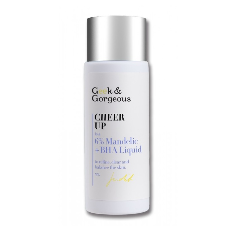 Geek and Gorgeous – Cheer Up Tonik kwasowy do twarzy 5% kwas migdałowy + 1% kwas salicylowy, 30 ml
