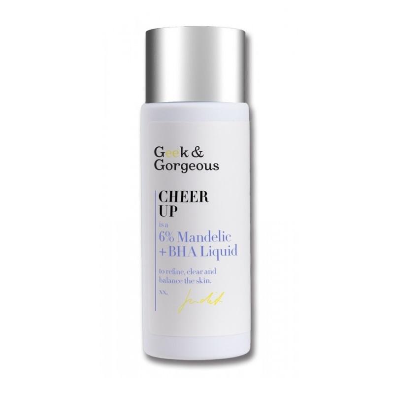 Geek and Gorgeous – Cheer Up Tonik kwasowy do twarzy 5% kwas migdałowy + 1% kwas salicylowy, 30 ml