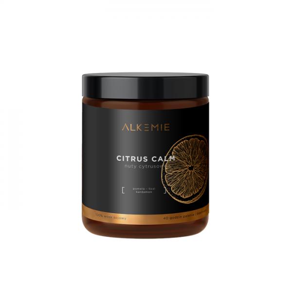 Alkemie - Świeca sojowa - CITRUS CALM, 180 ml