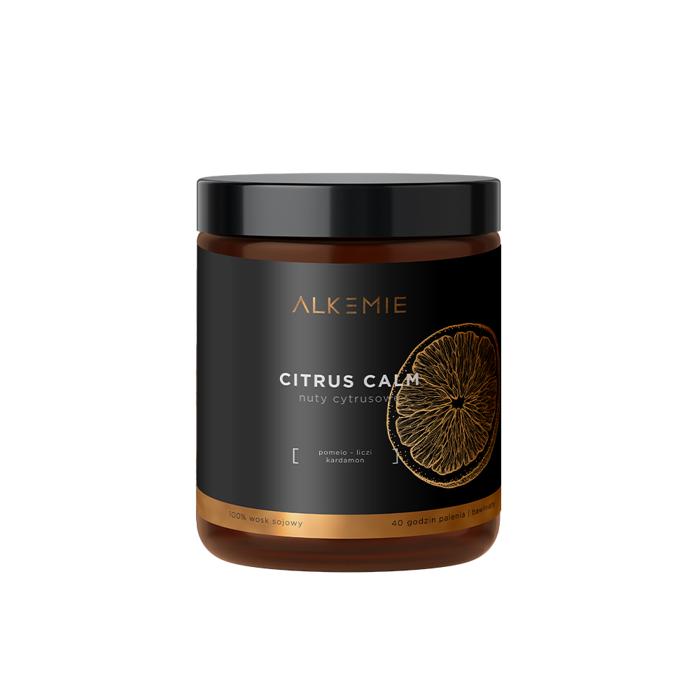 Alkmie – Świeca sojowa – CITRUS CALM, 180 ml