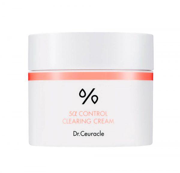 Dr.Ceuracle - 5α Control Clearing Cream - Lekki krem nawilżający regulujący wydzielanie sebum, 50ml