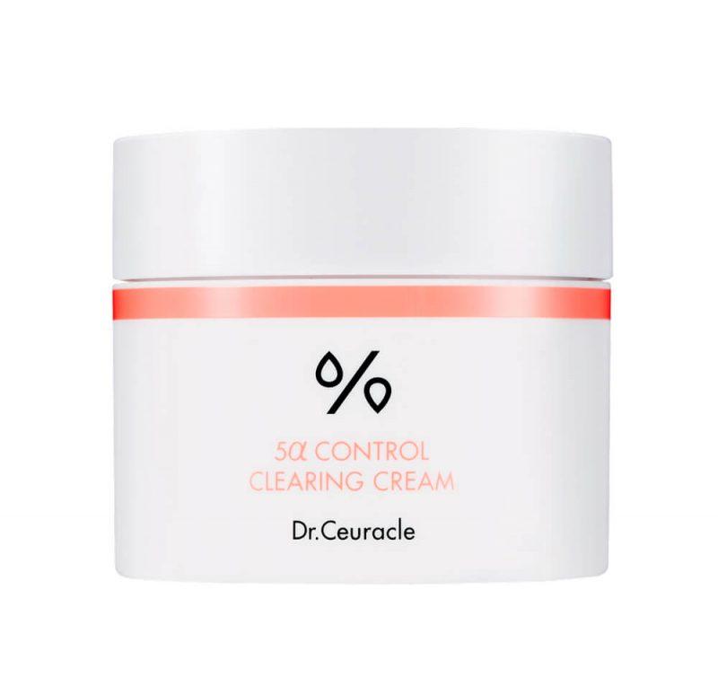 Dr.Ceuracle – 5α Control Clearing Cream – Lekki krem nawilżający regulujący wydzielanie sebum, 50ml