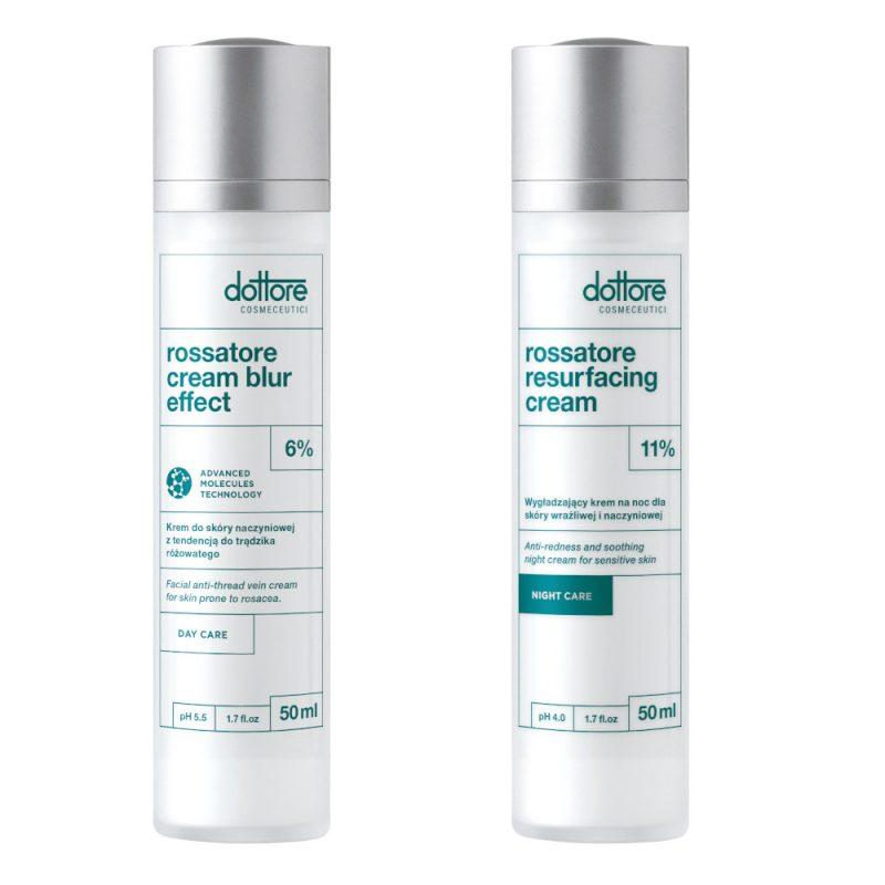 Dottore – ZESTAW KURACJA WZMACNIAJĄCA: Rossatore Cream Blur Effect 50ml + Rossatore Resurfacing Cream 50ml