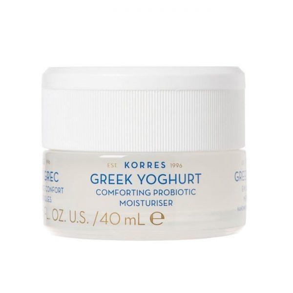 Korres - Greek Yoghurt Probiotic Moisturiser Kojący krem nawilżający z probiotykami dla skóry normalnej i mieszanej, 40 ml