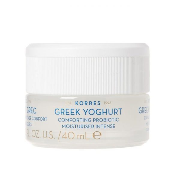 Korres - Greek Yoghurt Probiotic Moisturiser Intense Kojący krem intensywnie nawilżający z probiotykami dla skóry suchej, 40 ml