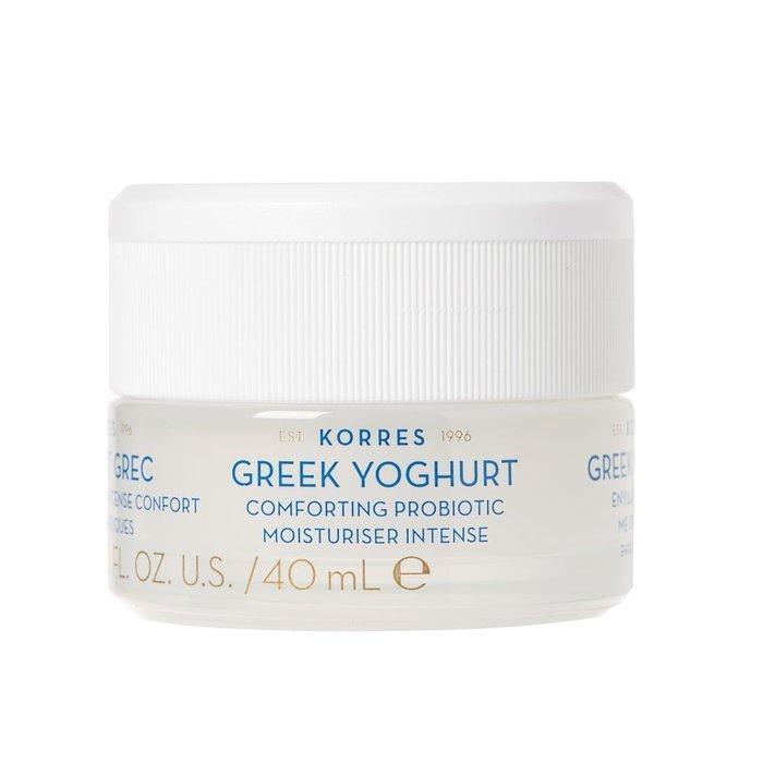 Korres – Greek Yoghurt Probiotic Moisturiser Intense Kojący krem intensywnie nawilżający z probiotykami dla skóry suchej, 40 ml