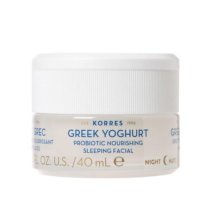 Korres – Greek Yoghurt Probiotic Nourishing Sleeping Facial – Odżywczy krem-maska na noc z greckim jogurtem, 40ml
