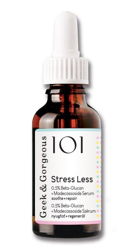Geek and Gorgeous – Stress Less – kojąco naprawcze serum z beta-glukanem i madekasozydem, 30ml
