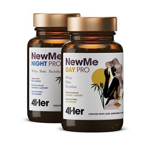 HealthLabs – NewMe Day Pro 30 kapsułek + NewMe Night Pro 30 kapsułek – Włosy, Skóra, Paznokcie
