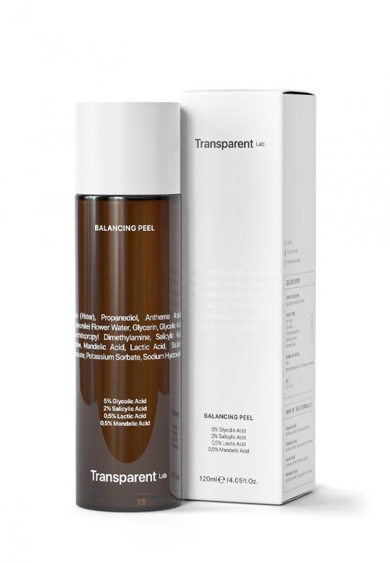 Transparent Lab – Balancing Peel Toner – Toner złuszczający do twarzy, 120ml