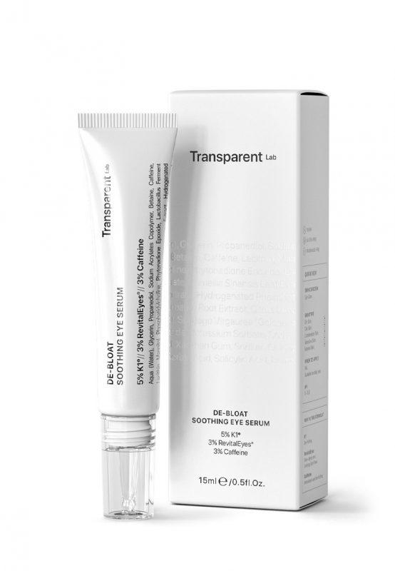Transparent Lab – De-bloat Soothing Eye Serum pod oczy z wit.K i kofeiną, 15ml