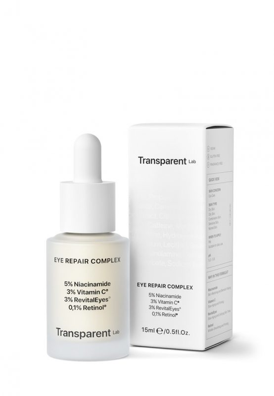 Transparent Lab – Eye Repair Complex – Nocna kuracja pod oczy, 15ml