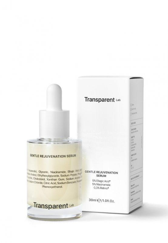 Transparent Lab – Gentle Rejuvenation Serum – Serum przeciwstarzeniowe z kwasem elagowym i retinolem, 30ml