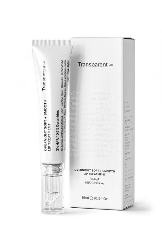 Transparent Lab – Overnight Soft + Smooth Lip Treatment – Nocna kuracja wygładzająca do ust, 15ml