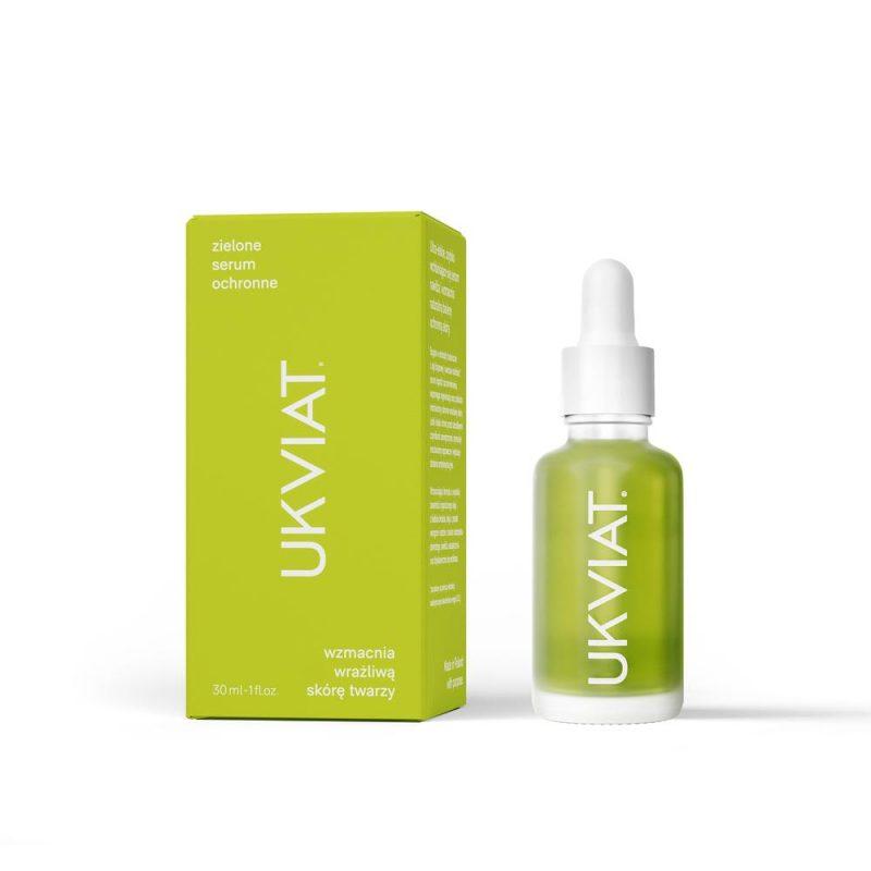 UKVIAT – Zielone Serum Ochronne – Wzmacnia wrażliwą skórę twarzy, 30 ml