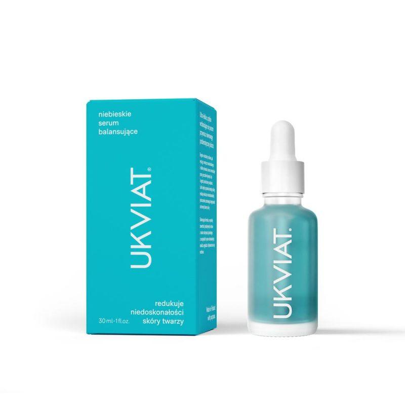 UKVIAT – Niebieskie Serum Balansujące – Redukuje niedoskonałości skóry twarzy, 30 ml