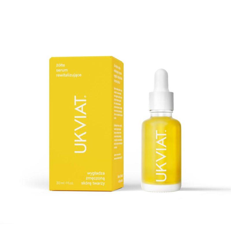 UKVIAT – Żółte Serum Rewitalizujące – Wygładza zmęczoną skórę twarzy, 30 ml