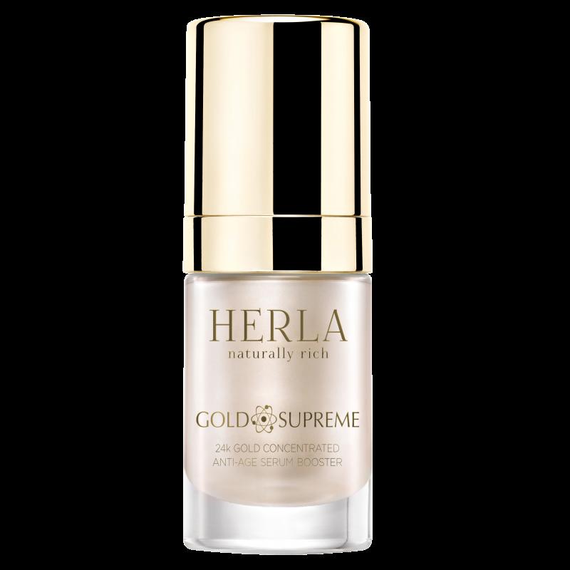 Herla – GOLD SUPREME – 24k Złoto Booster Skoncentrowane Serum Odmładzające, 15ml