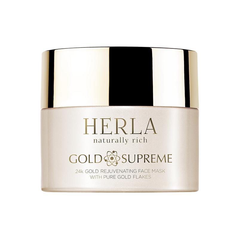 Herla – GOLD SUPREME – 24k Złoto Odmładzająca Maska do Twarzy z Płatkami Złota, 50ml