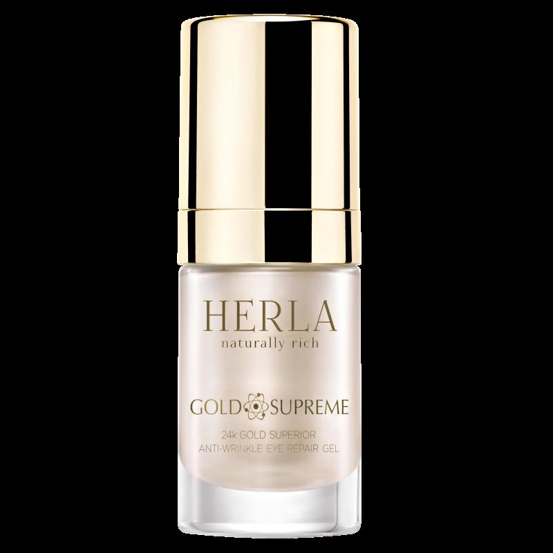Herla – GOLD SUPREME – 24k Złoto Superior Repair Przeciwzmarszczkowy Żel do Okolic Oczu, 15ml