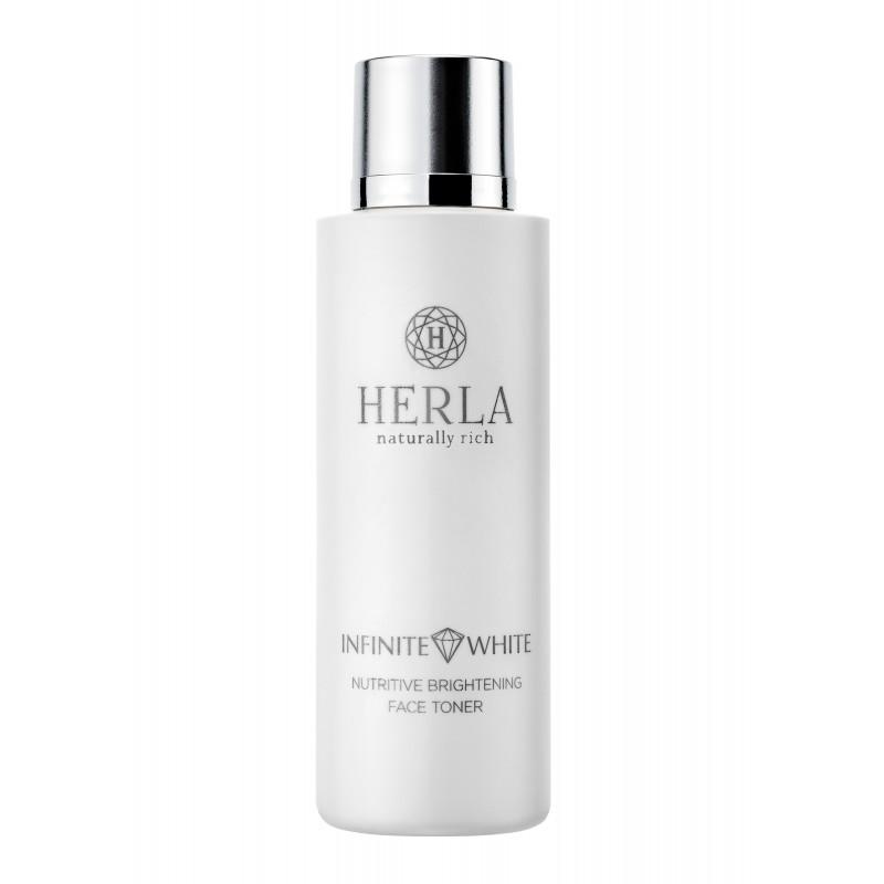 Herla – INFINITE WHITE – Odżywczy Tonik do Twarzy Rozjaśniający Przebarwienia, 200ml