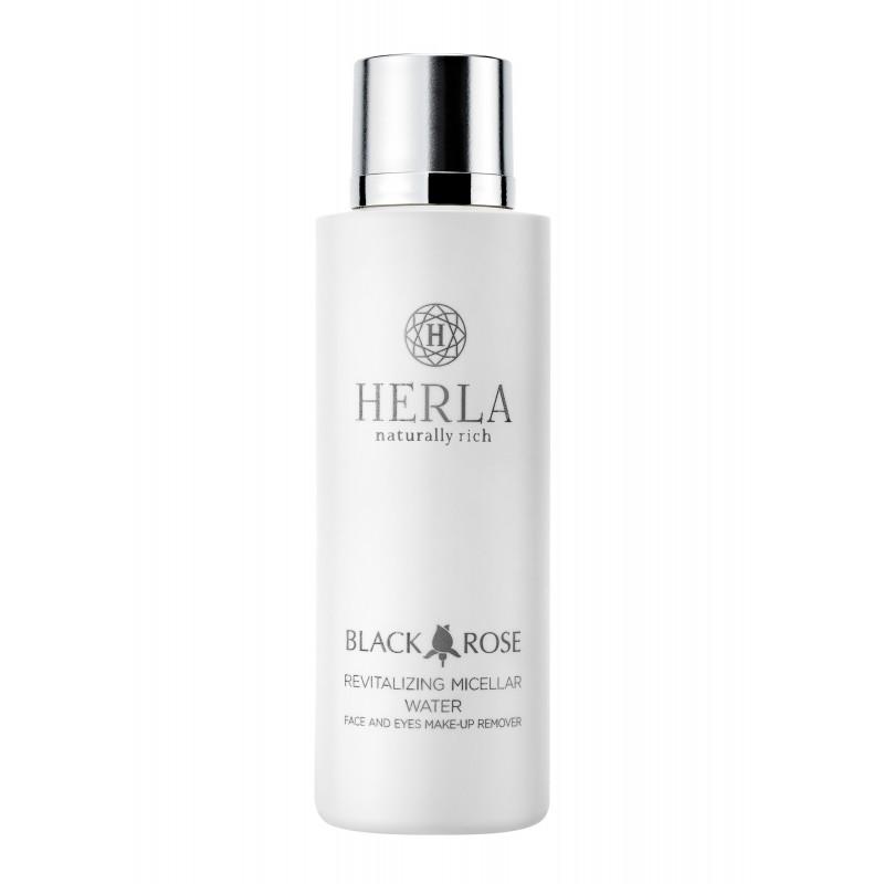 Herla – BLACK ROSE – Rewitalizujący Płyn Micelarny do Demakijażu Twarzy i Oczu, 200ml